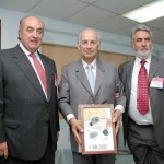 Oscar Guillermo Garretn, Presidente Fundacin Chile; Arnoldo Macaya, Fundador empresa Robinson Crusoe y Premio Trayectoria Empresarial; Ricardo Corts, Presidente Technopress.