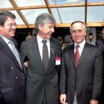 Felipe Sullivan, Salmonoil; Federico Silva, Presidente Sonapesca y Edgardo Garca, Salmonoil.